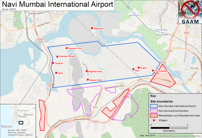 GAAM map of Navi Mumbai International Airport site