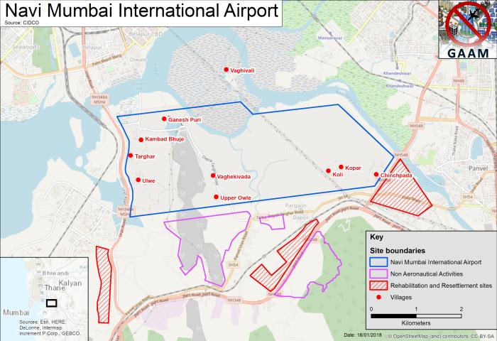 GAAM map of Navi Mumbai International Airport site