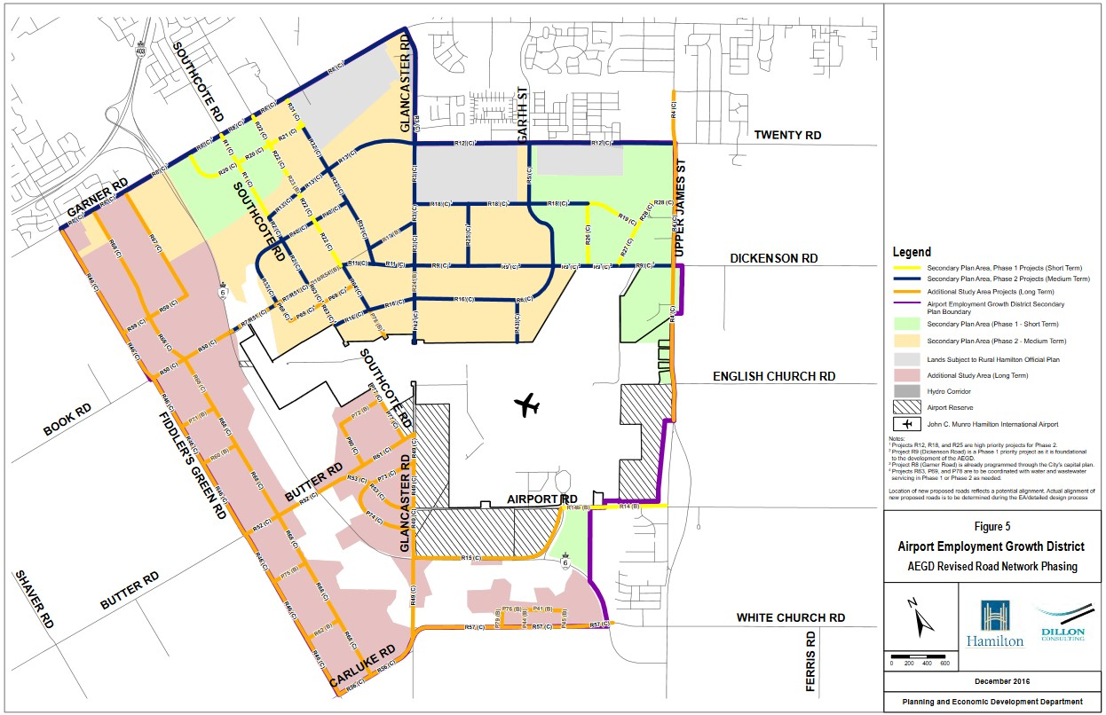 Hamilton Airport Employment Growth District (AEGD) land use and infrastructure plan