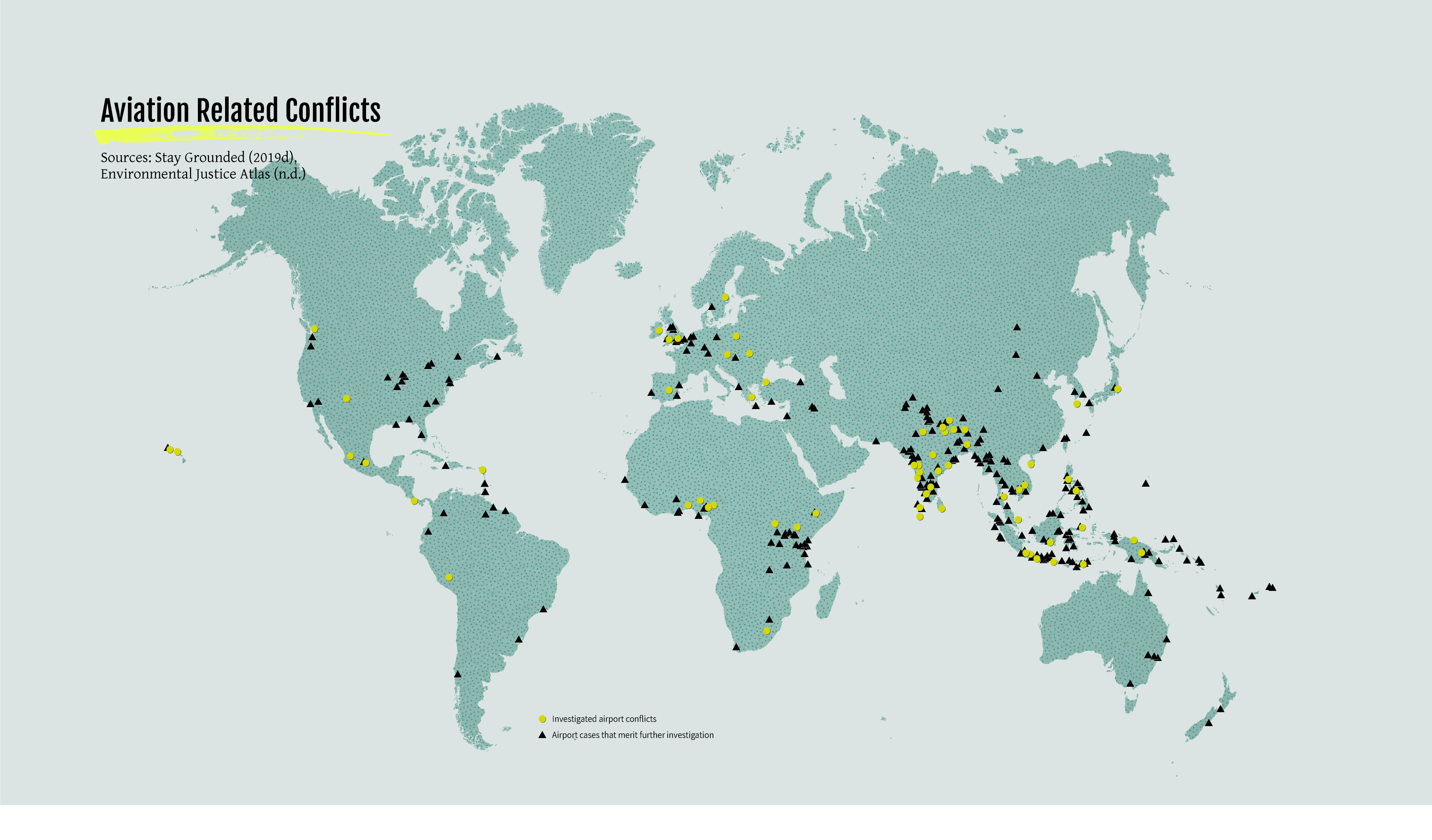 Map - Aviation related conflicts
