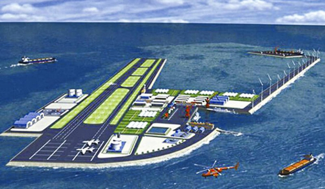 Illustration of the proposed new Sanya airport.