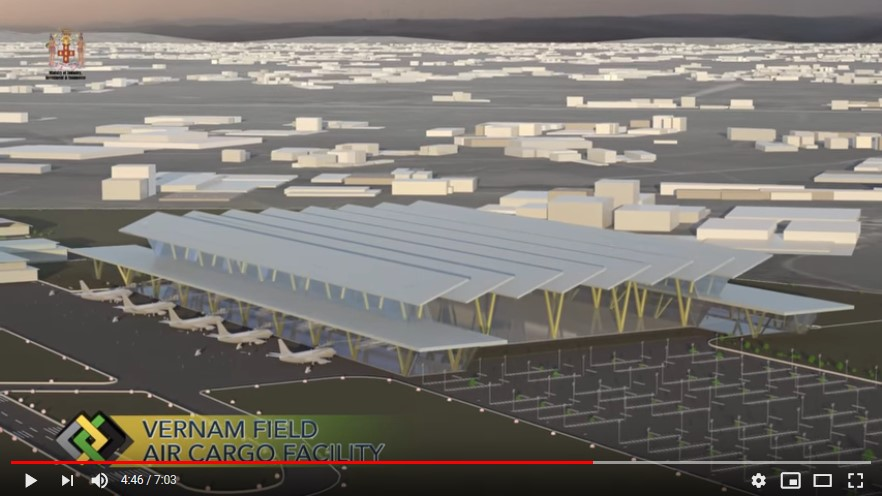 Vernamfield Air Cargo Logistics Facility, architect's impression