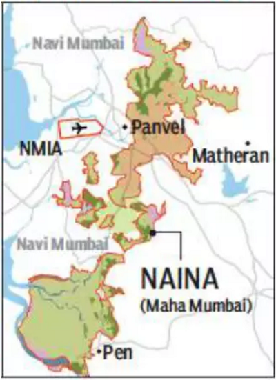 Map of NAINA September 2019, area shrunk to 371 sq km.