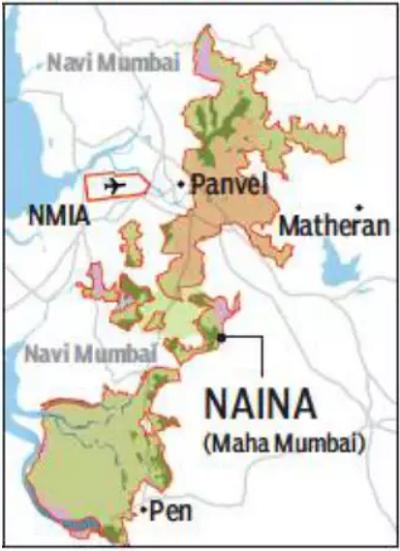 Map of NAINA September 2019, area shrunk to 371 sq km.
