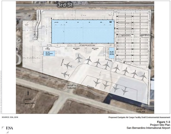Eastgate Air Cargo Facility site plan