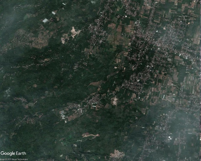 Kediri Airport site area satellite imagery, April 2018