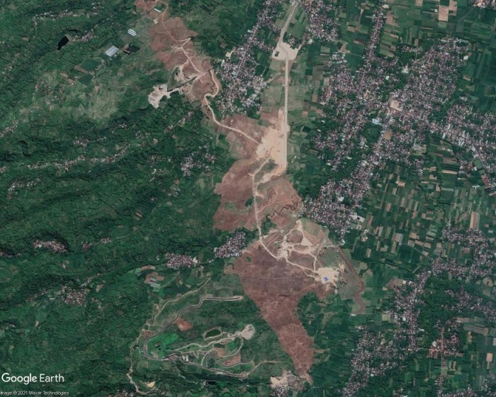 Kediri Airport site area, satellite imagery, June 2020