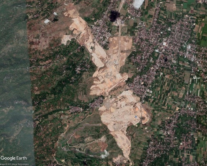 Kediri Airport site area, satellite imagery, November 2020