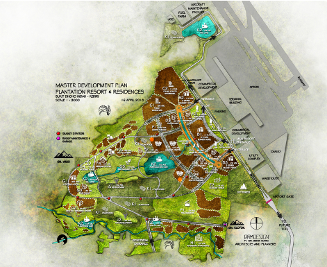 Kediri master development plan, Plantation resort & residences
